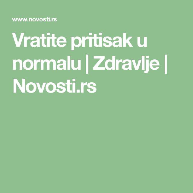 Vratite pritisak u normalu   Zdravlje   Novosti.rs