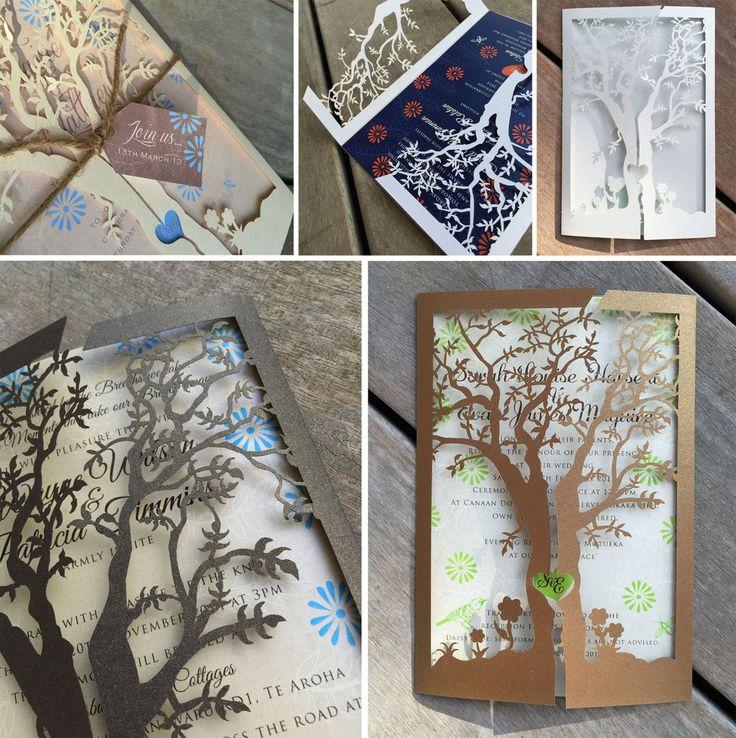 Tree Of Love Lasercut Invitation Jacket