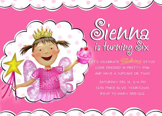 Pinkalicious Birthday a collection of Holidays and events ideas – Pinkalicious Birthday Invitations