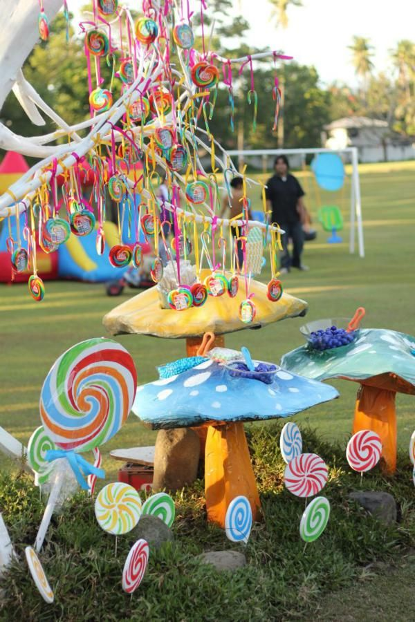 Willy Wonka Party via Kara's Party Ideas: Candy Tree