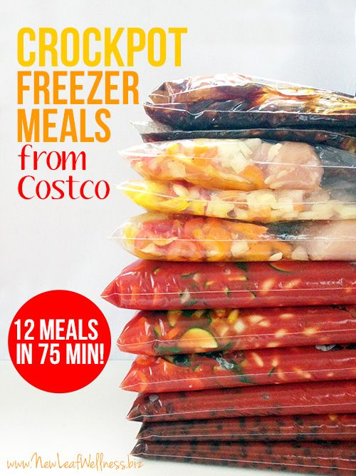 Crockpot Freezer Meals from Costco. I made these and they're healthy and delicious! So easy to make and perfect for busy week nights.