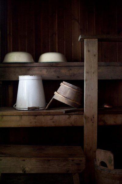 Old fashioned sauna