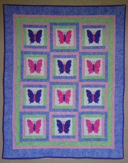 252 best Butterfly Applique Quilts / Patterns images on Pinterest ... : butterfly applique quilt - Adamdwight.com