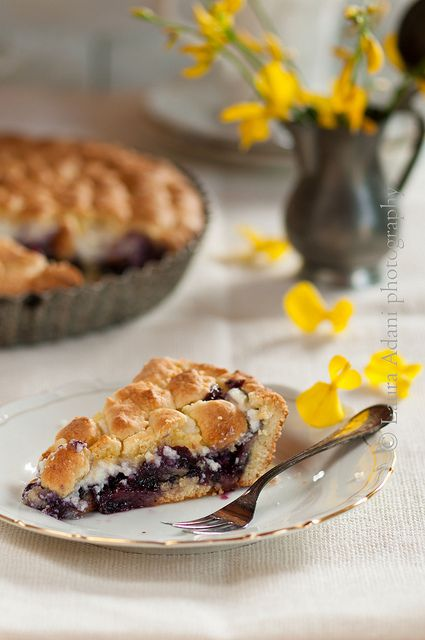 io...così come sono...: Crostata di mirtilli e ricotta– Blueberries and ricotta cheese tart