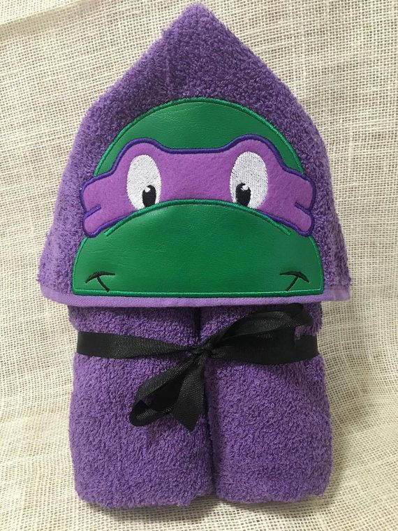 Turtle Hooded Towel In the hoop design by BowsAndClothesDesign