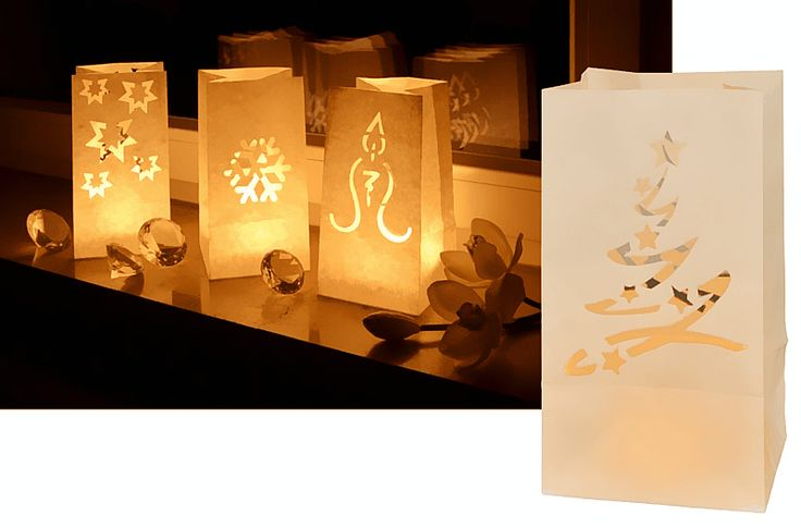 Candle Bag: 1.Colour: White ;Size:11*11* 20cm. 2.Made of flame retardant and reusable paper. 3.Easy to open, can be held by sand or little stones. 4.Can be reused with regular tealight candle or LED tealight candle. 5.Wonderful decoration for wedding,party,home and any other occasion.