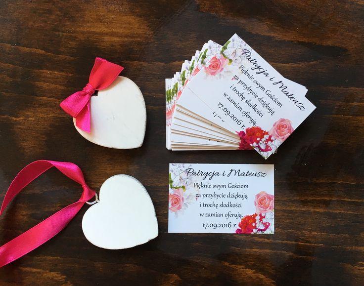 Naklejki, etykiety, podziękowania dla gości weselnych