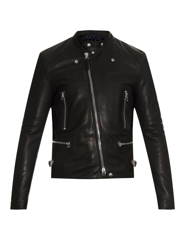 Leather biker jacket | Lanvin | MATCHESFASHION.COM UK