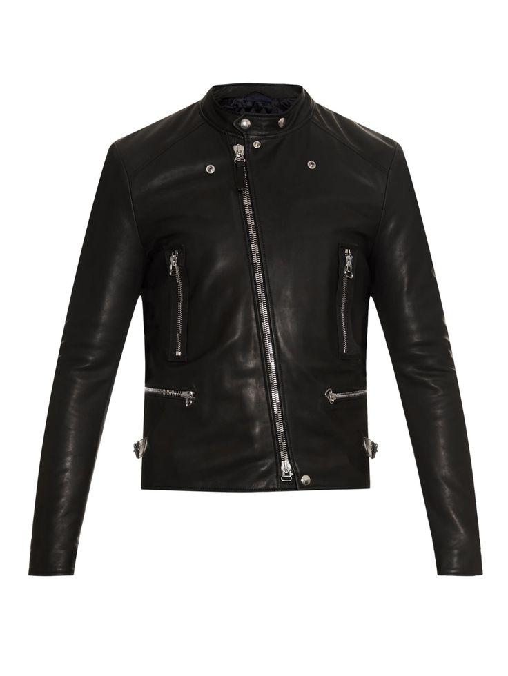 Leather biker jacket | Lanvin | MATCHESFASHION.COM UK