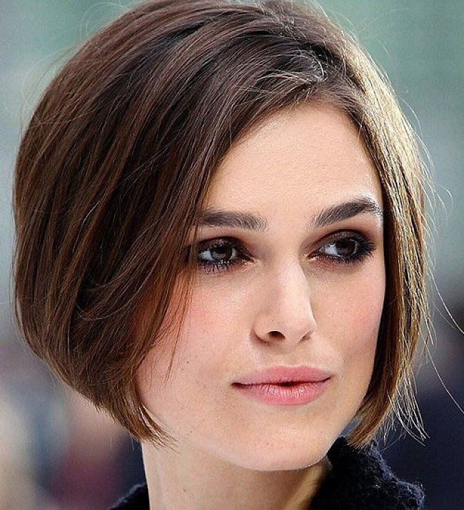Short bob hairstyles for long faces with straight hair
