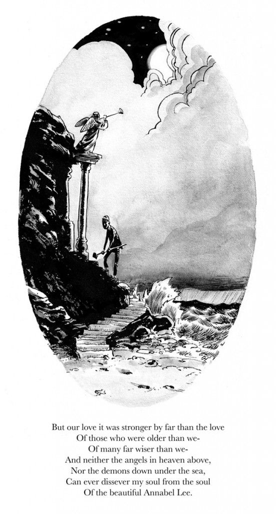 best annabel lee images annabel lee edgar allan  stanza 05 illustrated version of edgar allan poe s short poem annabel lee illustrated by greg hinkle