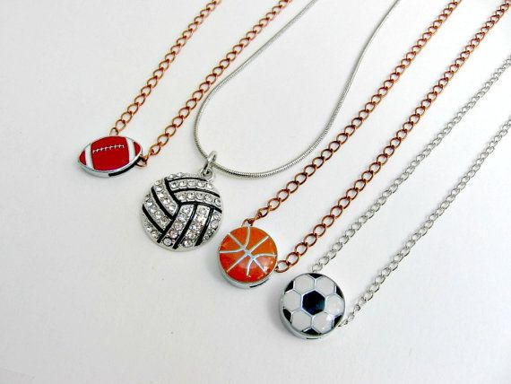 Sports Jewelry Personalized Volleyball Jewelry Football
