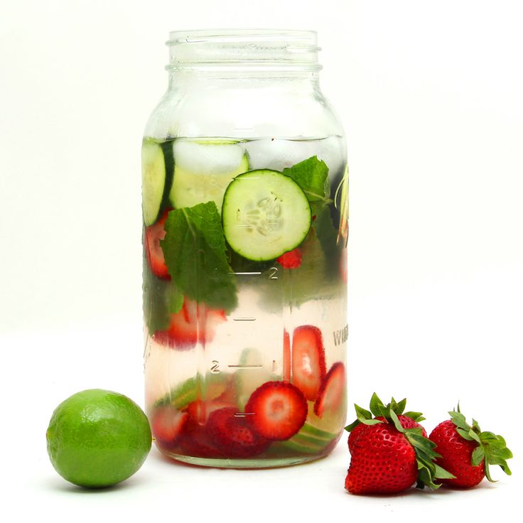 Cucumber, Strawberry, Lime, and Mint Agua Fresca