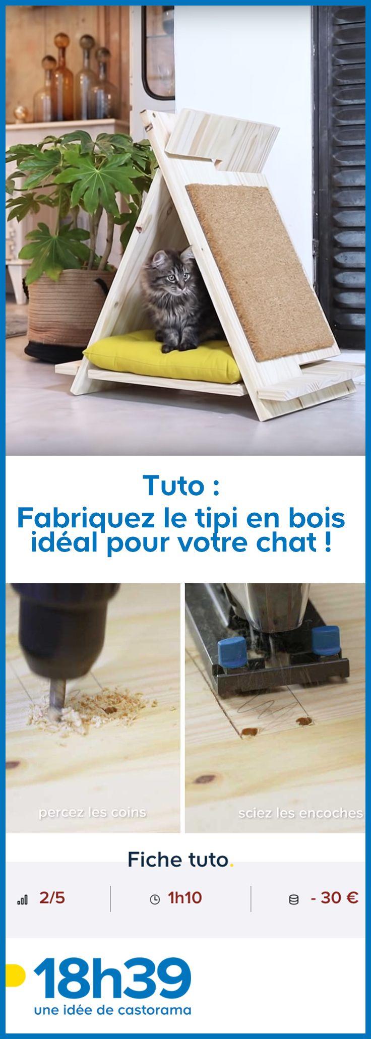 Tuto : Fabriquez le tipi en bois idéal pour votre chat !