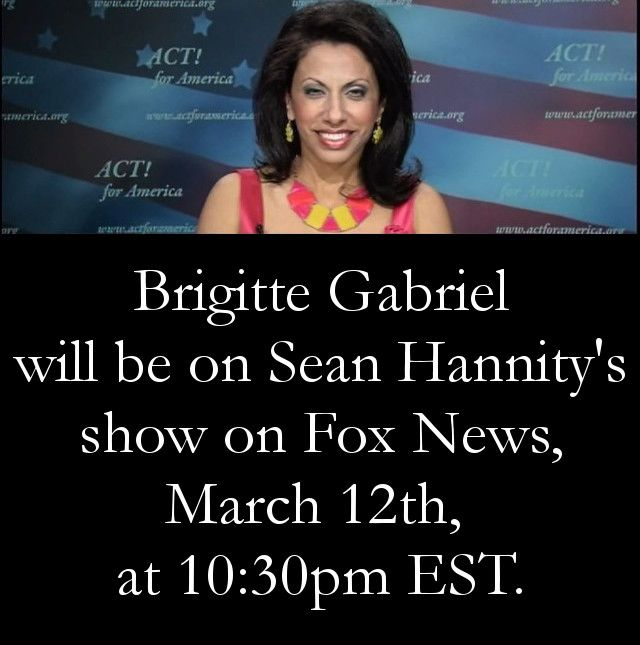 I will be on Sean Hannity's show on Fox News tonight, March 12th at 10:30pmEST. See you soon!
