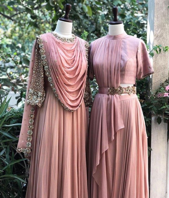 Embellished With Hand Embroidery Work And Detailing Dress Silhouettes Indowestern Designer Party Wear Dresses Indian Gowns Dresses Indian Wedding Outfits