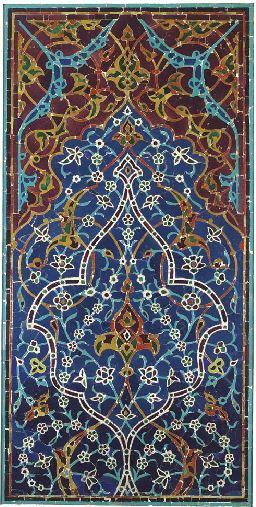 A LATE TIMURID TILE MOSAIC PANEL FROM THE SHRINE OF ZAYN AL-MULK, ISFAHAN, CENTRAL IRAN, AH 885/1480-81 AD