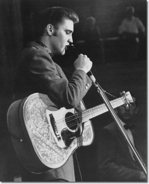 Elvis performing during first show in the fieldhouse - May 27, 1956