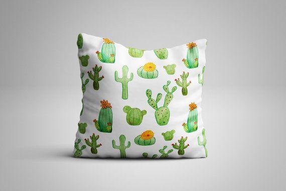 Cactus Cushion. 12 x 12 inch Cushion by NJsBoutiqueCo on Etsy