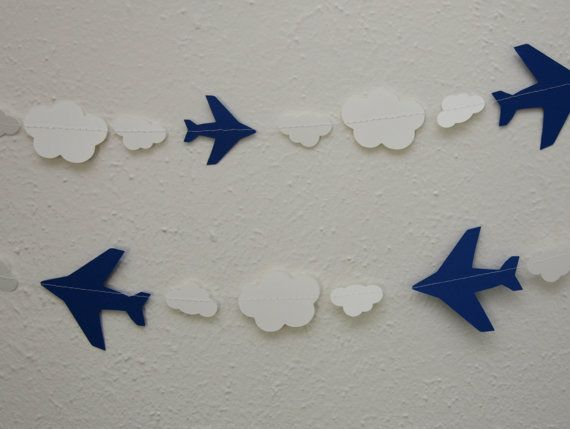 Hey, I found this really awesome Etsy listing at https://www.etsy.com/listing/152852561/airplane-and-cloud-garland-disneys