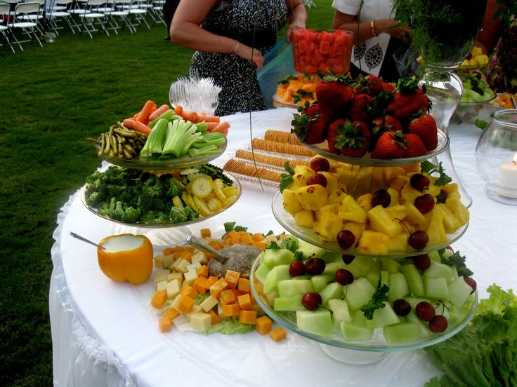 Fruit Buffet Table Ideas | There Were Two Beautiful Buffet Tables Full Of  Fresh Fruits