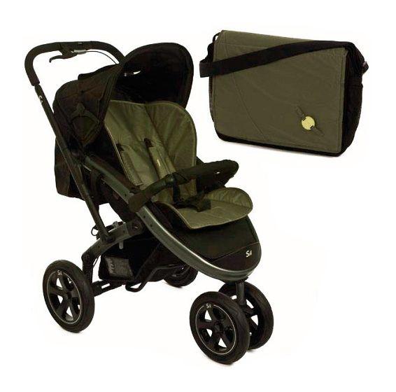 Прогулочная коляска Casualplay S4 Titanium + накидка для ног, матрасик, сумка