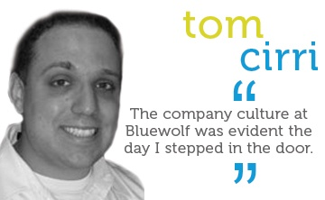 The company culture at Bluewolf was evident the day I stepped in the door.
