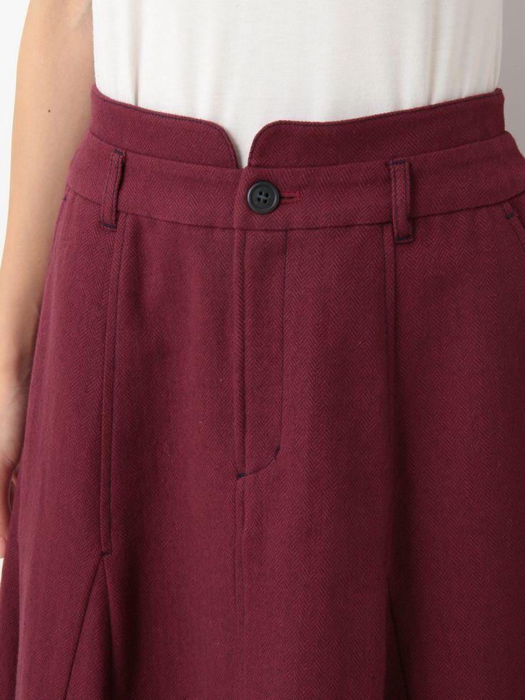 Herringbone Jacquard Flare Skirt | Jocomomola de Sybilla | Outlet Mail Order (Outlet Online Shop) | 【Official】 Itkin Outlet