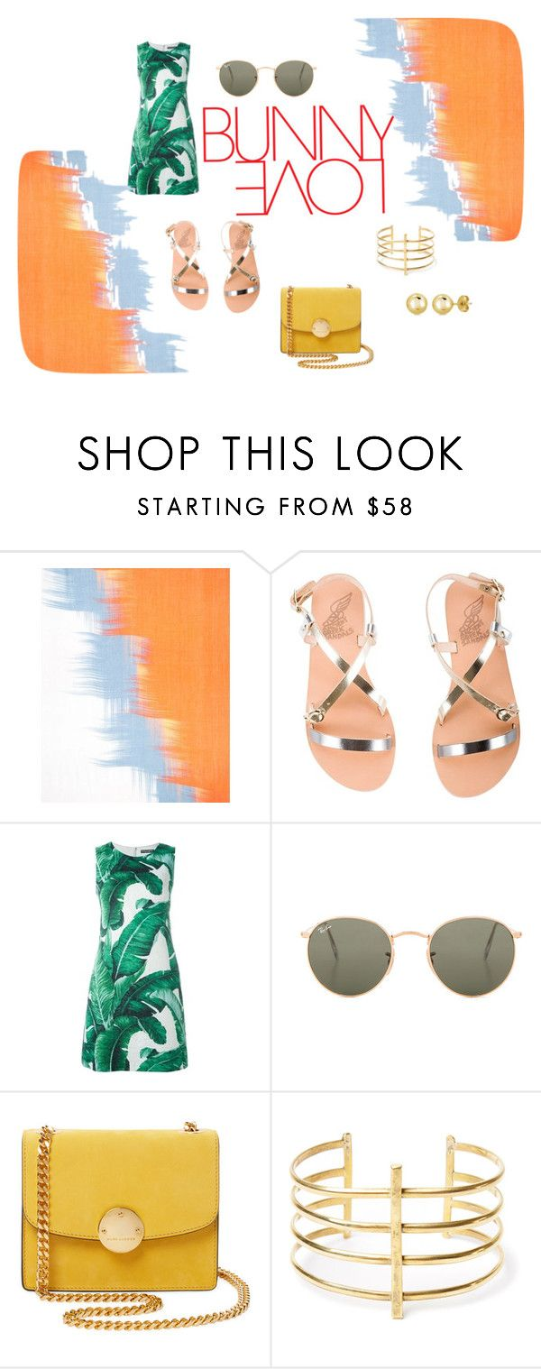 """me and the beach"" by valentinacabarcasgs-1 on Polyvore featuring moda, Jaeger, Ancient Greek Sandals, Dolce&Gabbana, Ray-Ban, Marc Jacobs, BauXo y BERRICLE"