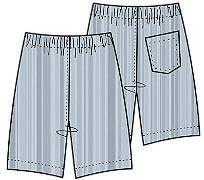 Выкройка мужских шорт из трикотажа, размеры 46, 48, 50, 52, 54
