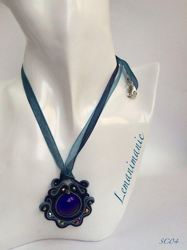 #ciondolo #soutache #blu notte, by Lemanimanie, 25,00 € su misshobby.com