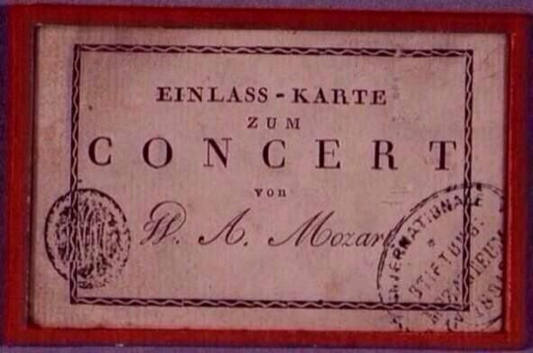 "That is cool.  ""@themozartproj: A 1782 ticket for a Mozart concert in Vienna... """
