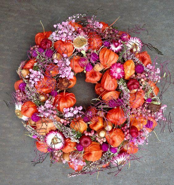 Türkränze - Herbstlicher Kranz ♥ Natur pur - ein Designerstück von…
