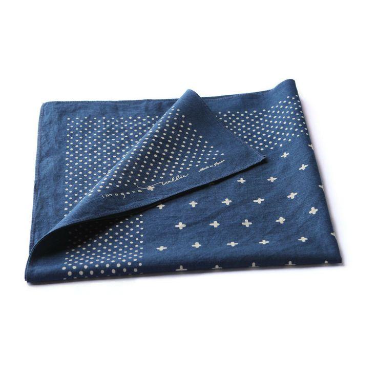 sashiko pattern inspiration: indigo plus bandana