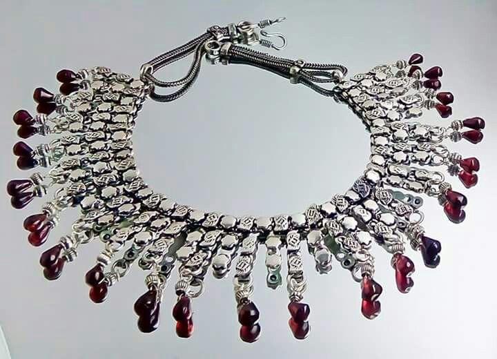 Orlov Jewellery-German silver,granate