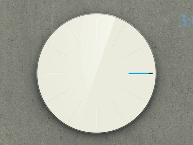 Obligatory Designer Clock by Saikat Biswas. It's a clock that does not have any hour or minute hands.