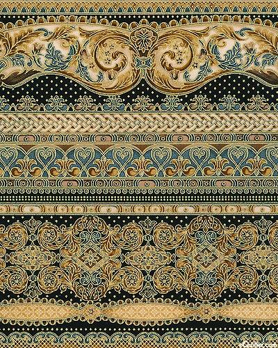 Florentine 3 - Glorious Golden Stripes - Mauve/Gold
