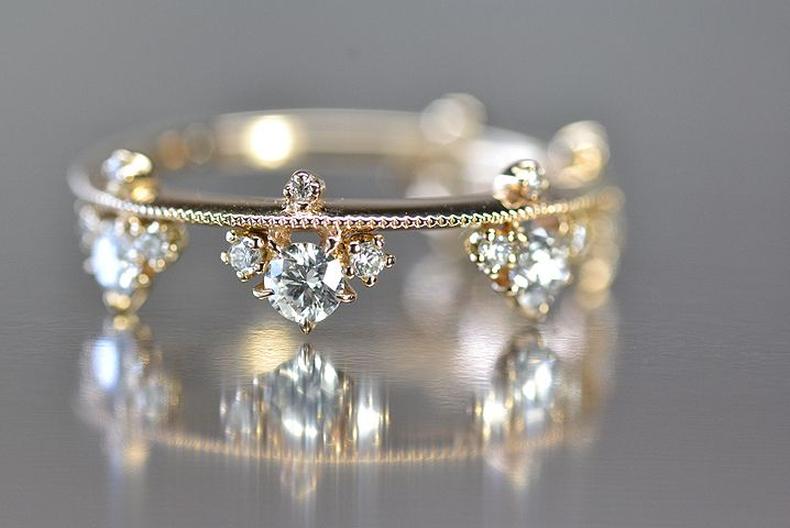 Petite diamond band by Kataoka Jewelry