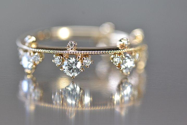 Petite diamond band by Kataoka Jewelry