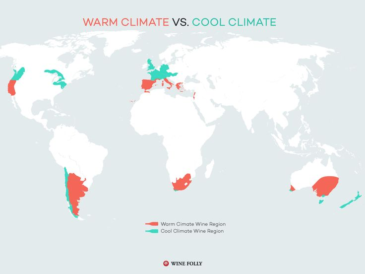 Warm Climate vs. Cool Climate Wine http://winefolly.com/tutorial/warm-climate-vs-cool-climate-wine/