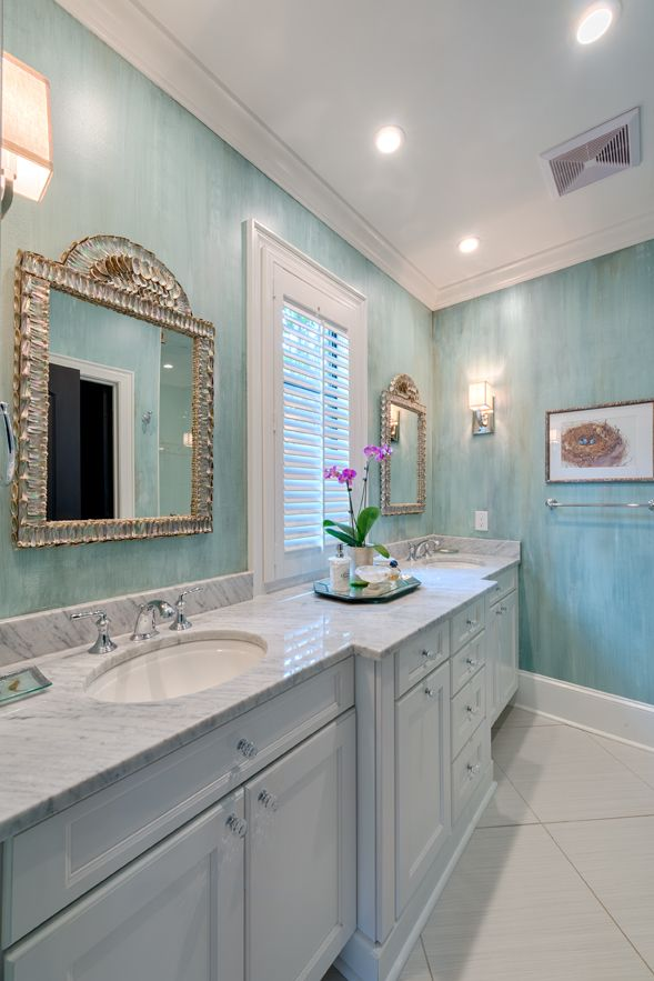The Master Bath Walls Were Faux Finished To Match The Bedroom But Add More Interest To This