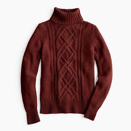 Cambridge cable turtleneck sweater