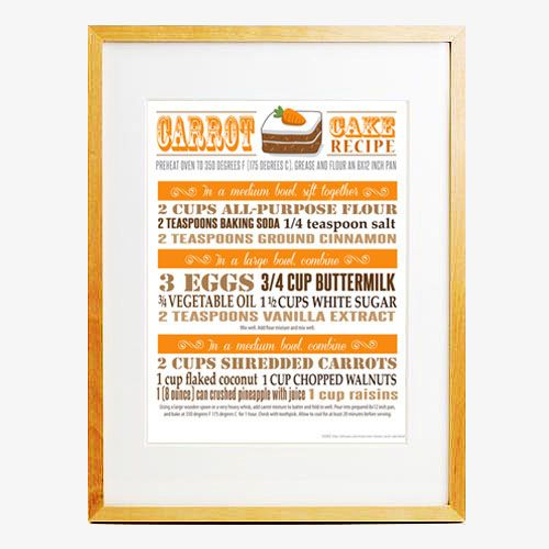 Recipe poster, what a great idea for a kitchen!