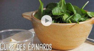 Pour accompagner vos plats, rien de tel que des épinards. Découvrez notre technique facile et rapide de cuisson en vidéo.