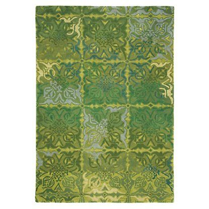 Courtyard Rug in Spring Green (Geometric Pattern, Rug Sample)   Handmade Area Rugs from Company C