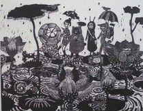 雨の日のおくりもの/22.5×30