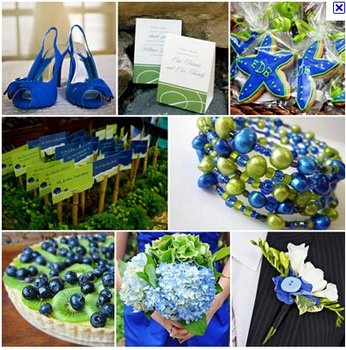 Blueberries!  Wedding, Green, Blue, Inspiration board - Blue and green wedding ideas