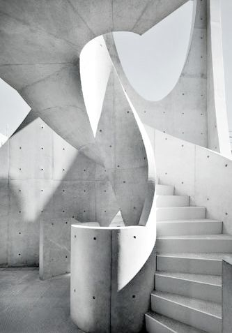 amazing concrete stairs . .
