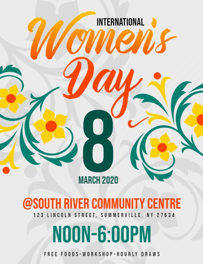 Women S Day Flyer Ladies Day Flyer International Womens Day