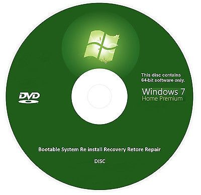 windows 7 home premium 64 bit bootable re install recovery. Black Bedroom Furniture Sets. Home Design Ideas